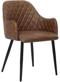 Nancy's Klickitat Eetkamerstoel - Moderne en Elegante Vrijetijdsstoel - Eetkamerstoelen - Metalen Poten - Grijs - 61 x 55 x 77 cm (L x B x H)