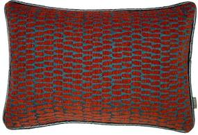 Kussen rood, langwerpig, Pascal Met binnenkussen 50 x 35 cm