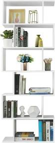 Nancy's Houten Boekenkast - 6 Niveaus – Standaardplank – Vrijstaande Kast - Boekenrek - Boekenkasten