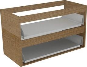Tutto wastafelonderkast z/fronten 2 la 70x52 echt hout eiken