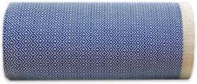 Sprei / grand foulard blauw Diamant, katoen 195 - 300 cm