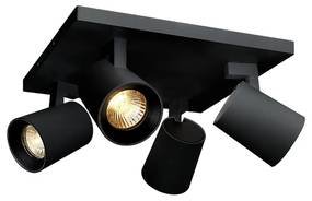 BWS Opbouwspot 4-Lichts Merga 4 11.2x24x24 cm 305Lm 5W 20° Zwart
