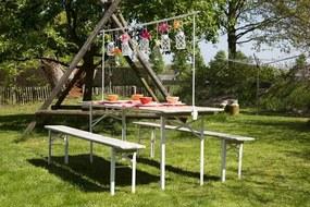 Inklapbare picknickset Scandinavian whitewash 200 cm- FSC keurmerk