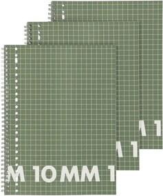 Schriften 16.5 X 21 Cm - Geruit 10 Mm - 3 Stuks