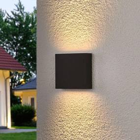 Hoekige LED outdoor wandlamp Trixy in antraciet