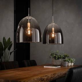 Glazen Hanglamp Met 2 Ovale Kappen