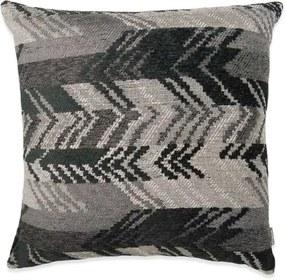 Kussen grijs, zwart, vierkant, Ibiza Met binnenkussen 50 x 50 cm