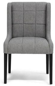 Rivièra Maison - Dining Chair Black Leg 1665-20, melane weave, fog - Kleur: grijs