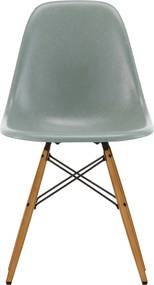 Vitra Eames DSW Fiberglass stoel esdoorn goud sea foam green