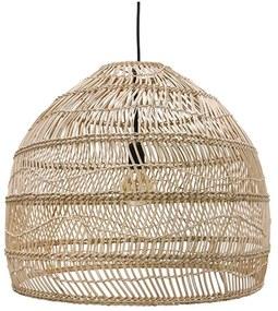 HKliving Wicker Wicker Rieten Hanglamp M - H50-⌀60 Naturel