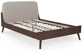 Ada kingsize bed, donkergebeitst hout