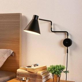 Uitnodigende led wandlamp Pria in het zwart - lampen-24