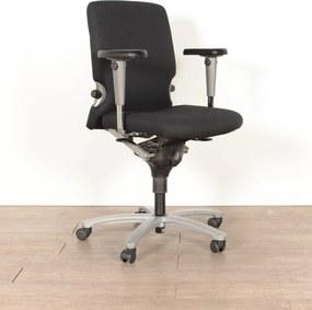 Bureaustoel 77, zwart, (opnieuw gestoffeerd) 4D armleggers