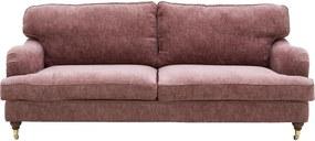 Goossens Bank Vivante roze, stof, 3-zits, stijlvol landelijk