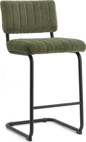 By-Boo Barstoel Operator (zithoogte 68cm) Velvet, kleur Groen