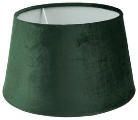 Lampenkap velvet - groen - ø28 cm