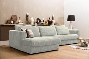 Goossens Bank Ravenia Met Chaise Longue wit, stof, 2,5-zits, stijlvol landelijk met chaise longue links
