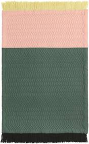 Normann Copenhagen Trace vloerkleed 140x195 blush/dark green