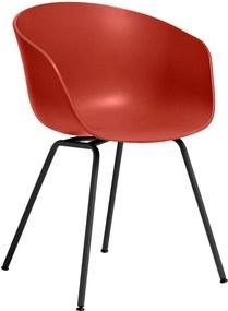 Hay About A Chair AAC26 Stoel Met Zwart Onderstel Warm Red