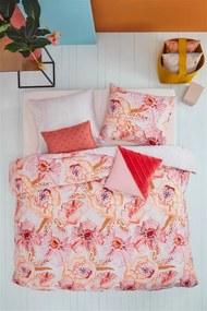 Oilily | Dekbedovertrekset Rose Dust eenpersoons extra: breedte 160 cm x lengte 200/220 roze dekbedovertrekken katoensatijn | NADUVI outlet