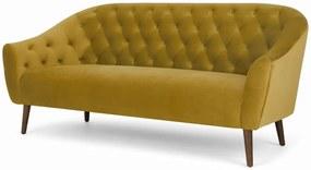 Tallulah 3-zitsbank, vintage goud fluweel