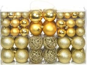 Kerstballenset 6 cm goud 100-delig