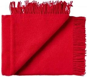 Plaid wol: effen, rood