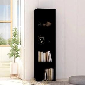 Boekenkast 40x30x151,5 cm spaanplaat zwart