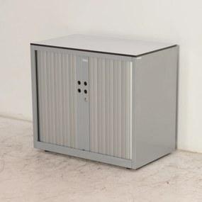 Roldeurkast, 72 x 80, aluminium, incl. 1 legbord, *ster 2*