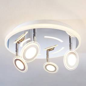 LED plafondlamp Enissa, rond, 4-lamps - lampen-24