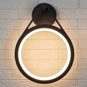 Ronde LED buitenwandlamp Mirco