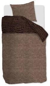 Rivièra Maison - RM Croco Duvet Cover brown 140x200/220 - Kleur: bruin