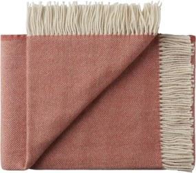 Plaid rood, visgraat, alpaca, wol: Sevilla