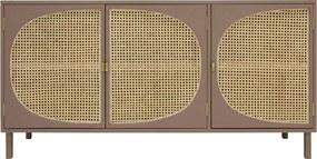 HKliving  Retro Dressoir Met Rotan Webbing - 160x40x81cm.