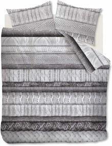 Rivièra Maison - RM Tricot Chaud Duvet Cover grey 240x200/220 - Kleur: grijs