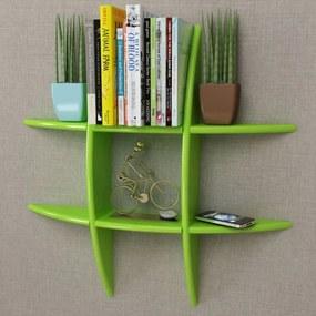 Wandplank MDF zwevend voor boeken/dvd groen