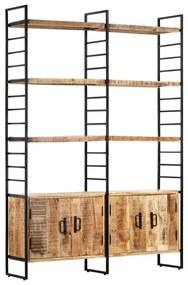 Medina Boekenkast met 4 schappen 124x30x180 cm ruw mangohout