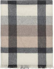 Plaid beige, wit, grijs, ruiten, alpaca wol: Intersection