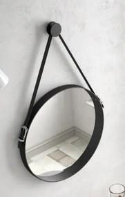 Muebles Davinci 51cm spiegel zwart frame en leren band