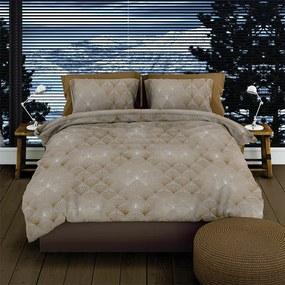 Romanette Tiffany - Verwarmend Flanel - Taupe Lits-jumeaux (240 x 200/220 cm + 2 kussenslopen) Dekbedovertrek