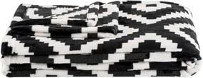 Plaid Robin - zwart/wit - 130x170 cm - Leen Bakker