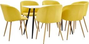 7-delige Eethoek stof geel