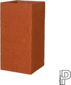 Pottery Pots | Bloempot Bouvy small: lengte 40 cm x diepte 40 cm x hoogte 80 cm rood outdoor bloempotten fiberstone outdoor | NADUVI outlet