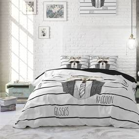 DreamHouse Bedding Business Raccoon - Wit Lits-jumeaux (240 x 220 cm + 2 kussenslopen) Dekbedovertrek