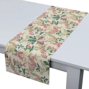 Rechthoekige tafelloper, roze-beige