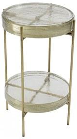 Kare Design Ice Double Glazen Bijzettafel Rond - 30 X 30cm.