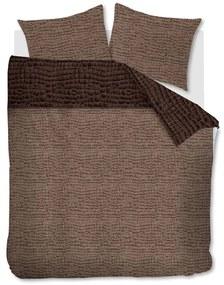 Rivièra Maison - RM Croco Duvet Cover brown 200x200/220 - Kleur: bruin