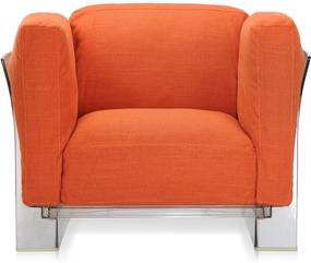 Kartell Pop Duo fauteuil oranje