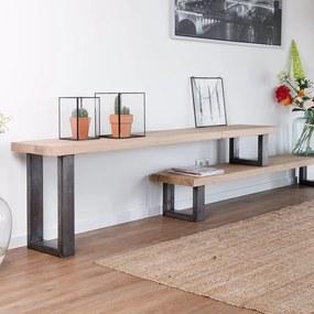 Industriële eikenhouten tv-meubel Brunet