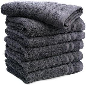 Fresh & Co 6-PACK: Handdoeken - Antraciet